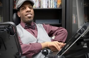 KITCHENER, ON., January 16, 2013 - Writer and illustrator Andre Campbell works in his Kitchener apartment. Campbell's latest work, 'Starkeeper', is about a disabled teen who is trying to change his life. (Adam Gagnon / Special to The Record)