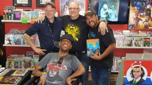A. Shay Hahn, Chris Chettle, Alfonso Espinos and me!